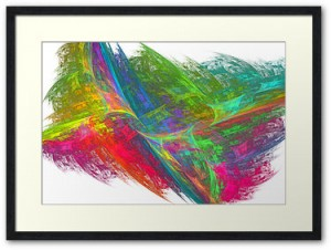 "Framed artwork titled ""Glimmer of Hope"""